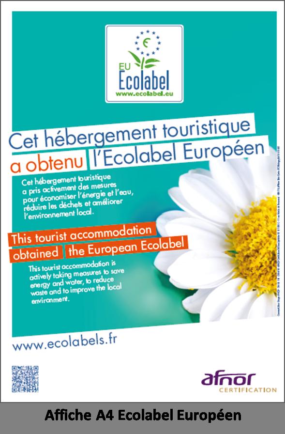 Affiche A4 Ecolabel Européen